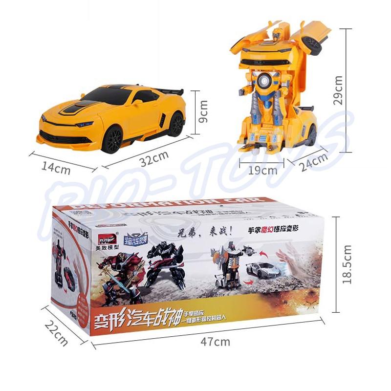 Hotsale Gift 1/14 RC Transform Car & Robot Machine Toys Vehicle Hand Sensing Combo Drift Racer Children Electric Sports Present enlarge