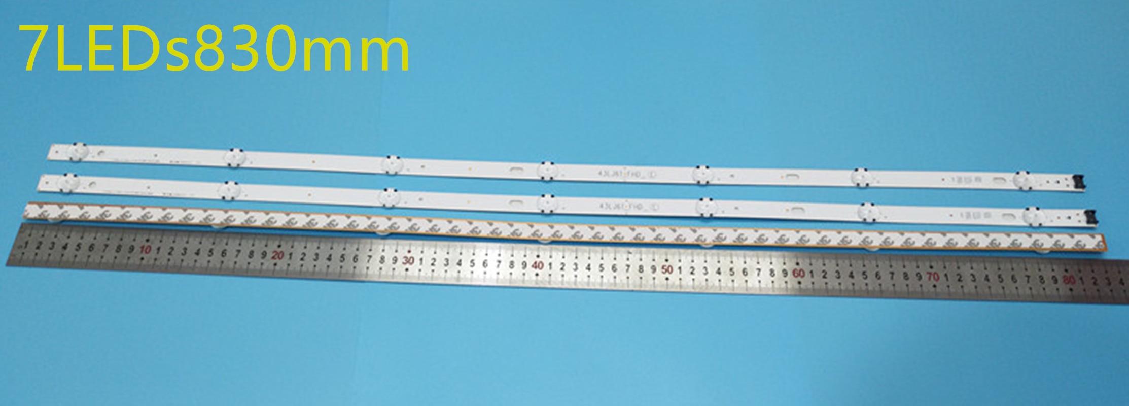 جديد كيت 3 قطعة 7LED 830 مللي متر LED شريط إضاءة خلفي ل LG 43UJ670V 43UJ6300 43UJ634V LC43490062A LC43490063A LC43490064A LC43490060A