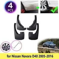 for nissan navara d40 20052016 mudguards mudflaps fender guards splash mud flaps accessories 2006 2007 2008 2009 2010 2012 2013