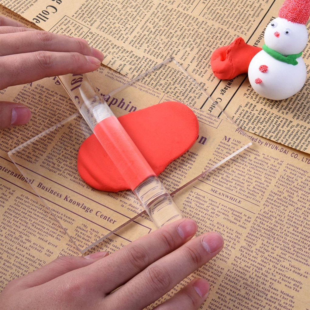 Polymer Clay Crafts Acrylic Roller Hollow Rolling Clay Bar Roll Stick for Shaping and Sculpting