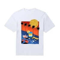 mens o neck t shirts luxury brand logo design print men summer cotton loose harajuku short sleeve oversized t shirt