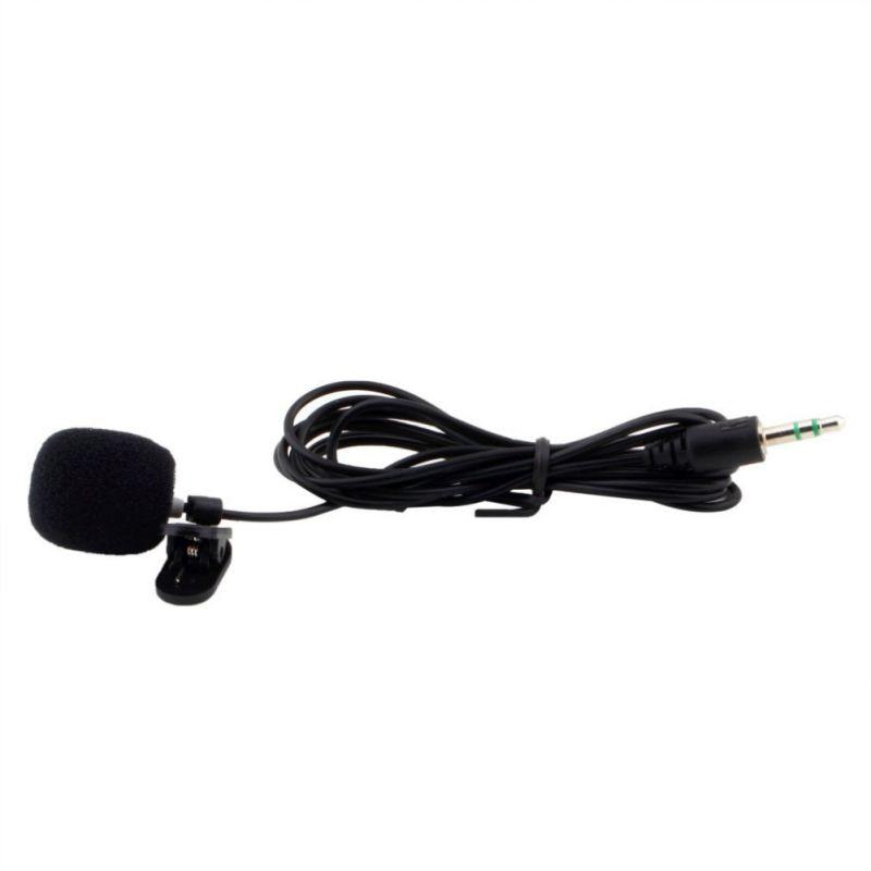 Nuevo Sonido dinámico estéreo con cable micrófono Mini Collar Clip-on portátil cuello Lavelier MIC para conferencias enseñanza educación