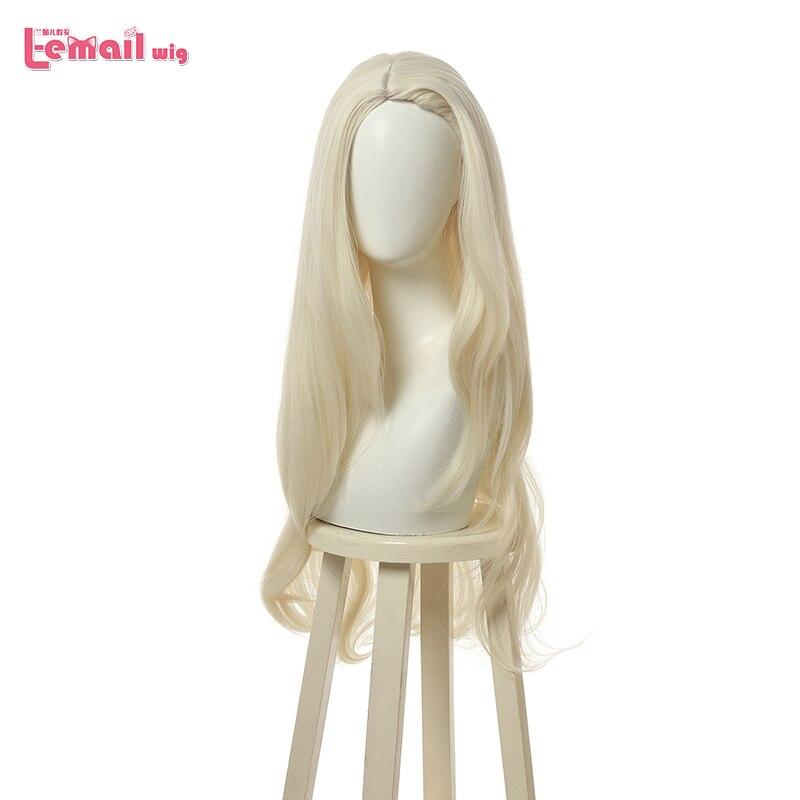 L-email парик принцесса Эльза Косплей парики длинные светлые свободные волны Косплей парик Хэллоуин термостойкие синтетические волосы
