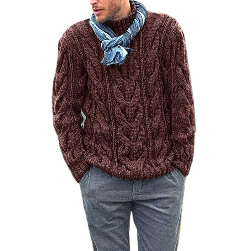 Зима 2020, Мужской пуловер, свитер, повседневный мягкий и удобный пуловер, свитер, пальто, толстый теплый крутой мужской свитер ручной вязки