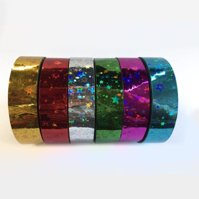 Cinta de Gimnasia rítmica para decoración, cintas holográficas, purpurina prismática, Gimnasia, aros...