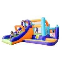 inflatable combo slide bounce house jumper jump in bouncy castle with blower indoor backyard party for ball pool kids