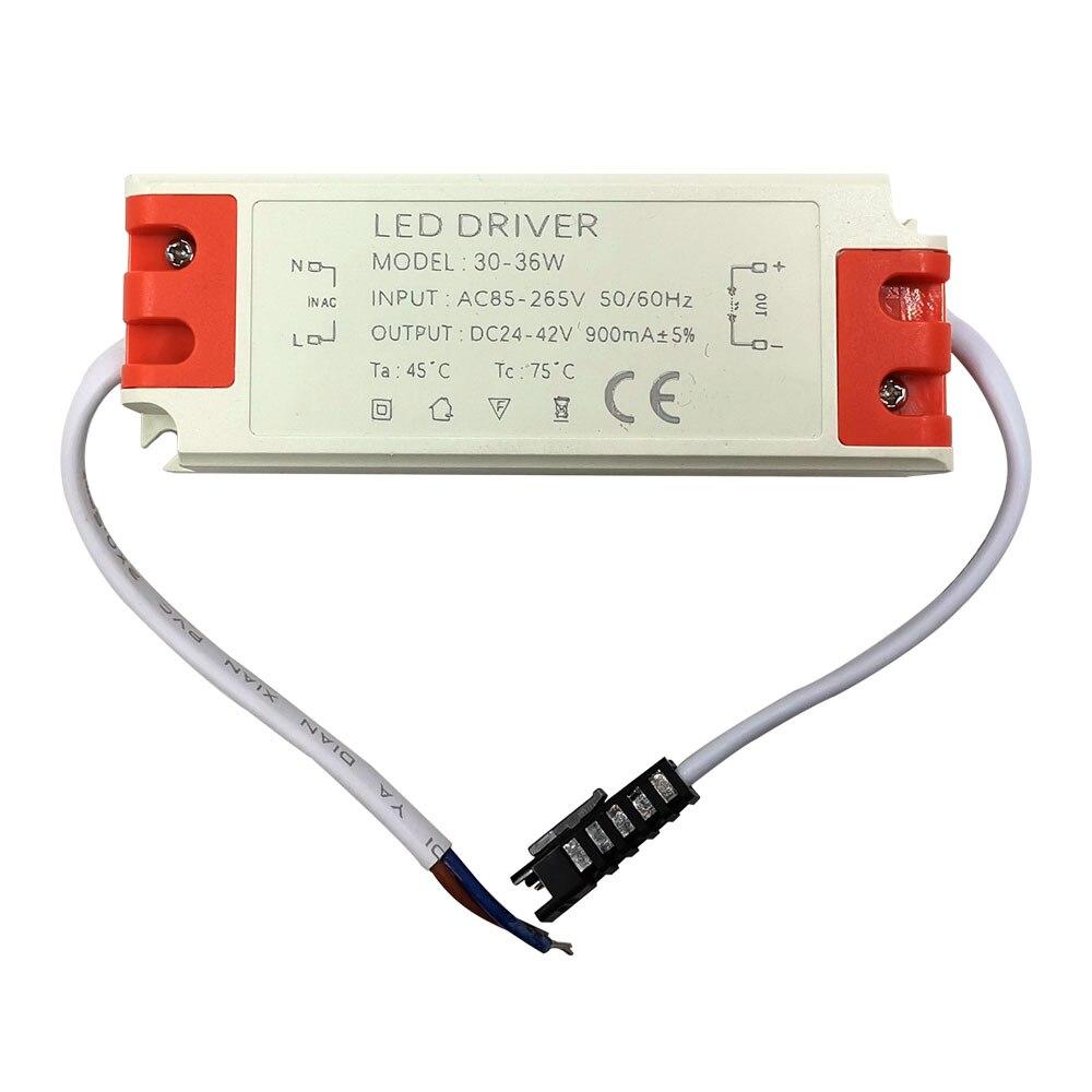 Fuente de alimentación de corriente constante de 10W y 30W, Controlador LED de 30V, 36V, 300MA y 900mA para focos LED, luces de pista descendentes para lámparas de interior