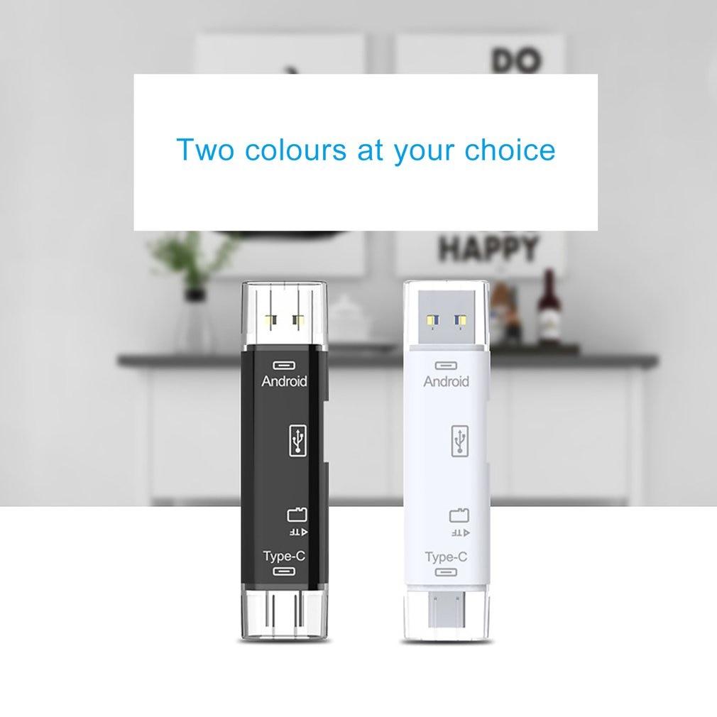 Купить с кэшбэком 5 in 1 USB 3.0 Type C / USB / Micro USB SD TF Memory Card Reader OTG Adapter Connector High Speed Memory Card Reader