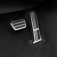 aluminum car fuel brake pedal rest foot pedal cover for toyota rav4 rav 4 camry 70 avalon 2018 2019 2020 lexus es gs accessories