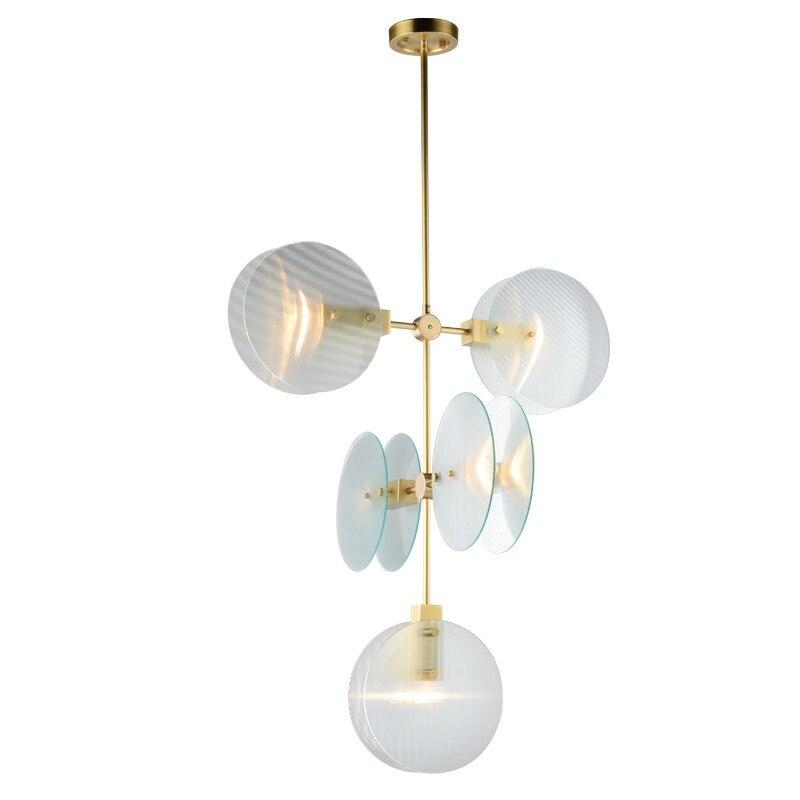 Nordic Anhänger Lichter Gold Metall Glas Anhänger Lampe Für Restaurant Hotel Schlafzimmer Wohnzimmer Wohnkultur Kunst Kronleuchter PA0678