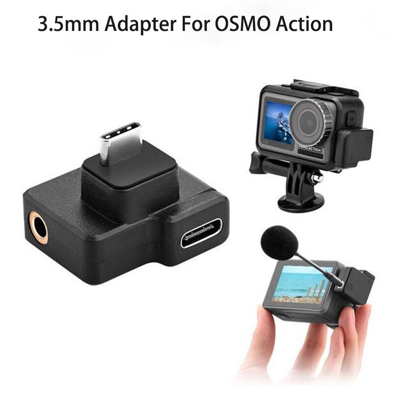 DJI Osmo действие двойной 3,5 мм USB-C адаптер для камеры OSMO экшн Камера улучшает качество звука, в то время как зарядка и передача данных