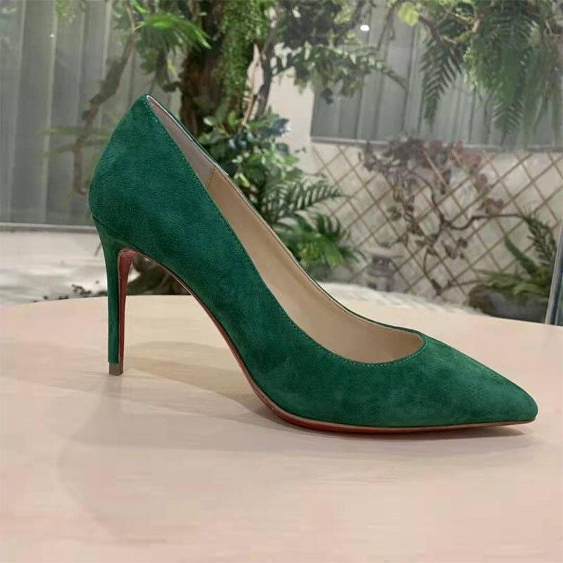 Женские туфли на высоком каблуке, однотонные зеленые, с острым носком, на шпильке-шпильке, с закрытым носком, профессиональные Роскошные бре... александра дорошина эволюция instagram smmarketing на шпильке