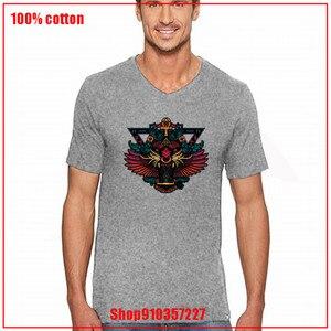 LION OWL 100% cotton short sleeve V-neck funny men T shirt casual cool summer men T shirt male Simple loose mens tee shirts