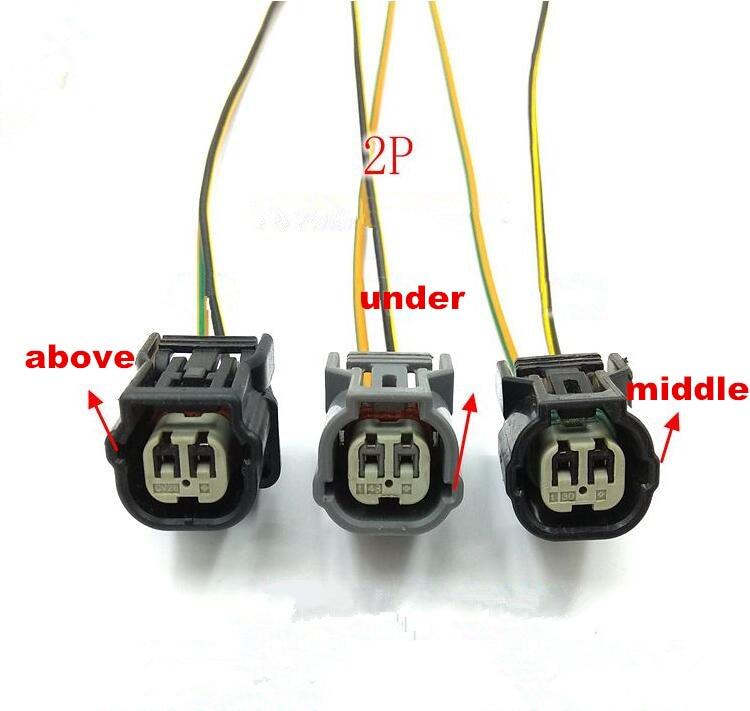 5 шт./лот 2 Pin/Way температура воды ABS сенсор Поворотный Светильник разъем с косичкой для Honda Accord подходит Odyssey Civic