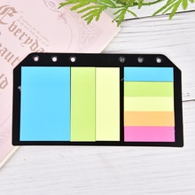 2020 B5 A5 A6 Sticky Notes Planner Memo Spiral Notebook Schedule 6 Holes Binder Dairy  Divider Sticker for Loose Leaf Binder