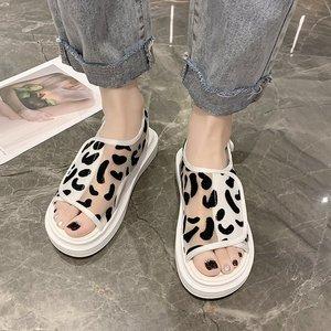 Summer Casual Shoes New Fashion Women Platform Sandals Breathable Mesh Flip Flops Beach Shoes Comfortable Flat Walking Sandalias