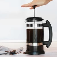 1000ml manual coffee espresso maker pot stainless steel glass teapot cafetiere french coffee tea percolator filter press plunger