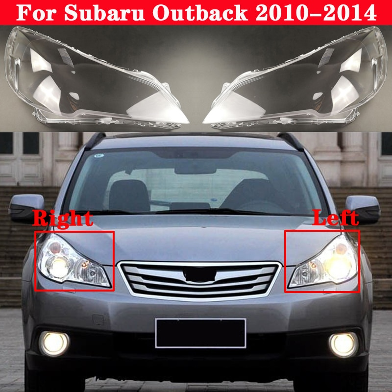 Car Front Headlight Cover For Subaru Outback 2010-2014 Auto Headlamp Lampshade Lampcover Head Lamp light Covers glass Lens Shell