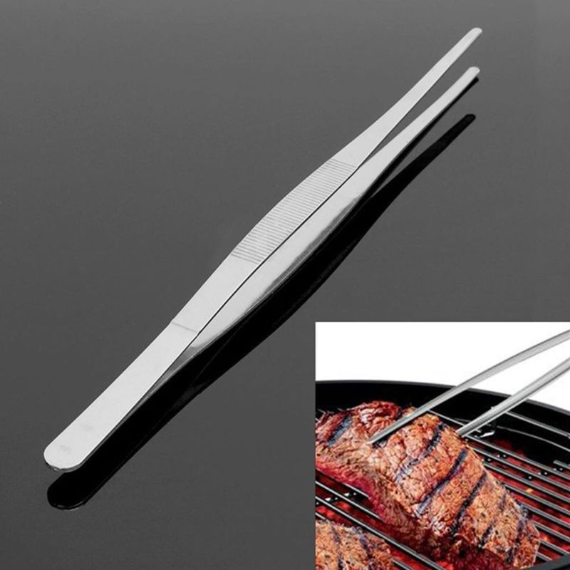 Kitchen Tweezer BBQ Food Barbecue Tongs Steel Tweezers Clip Mini Chief Tongs Stainless Steel For Picnic Barbecue Cooking