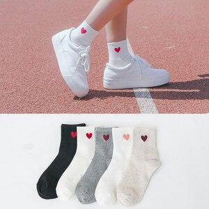"""2019 Новая мода Harajuku женские длинные хлопковые носки японская Новинка «любящее сердце», хлопковые носки в стиле """"хип-хоп"""", плотный хлопок, дышащие носки"""
