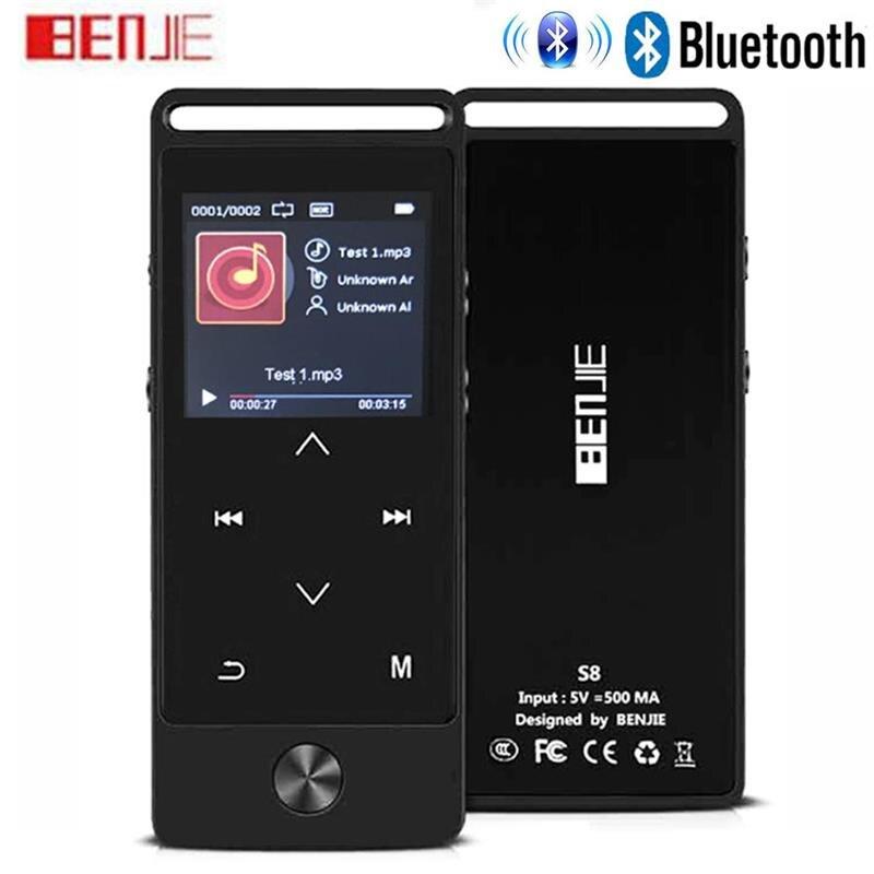 BENJIE-S8, последняя версия, сенсорный Bluetooth MP3 музыкальный плеер, без потерь, звук, поддержка FM радио, Micro SD карта, долгое время воспроизведения