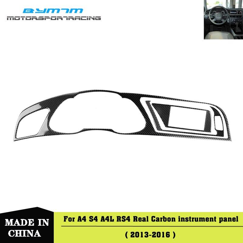Medidor de Panel de instrumentos de fibra de carbono para AUDI A4 S4 RS4