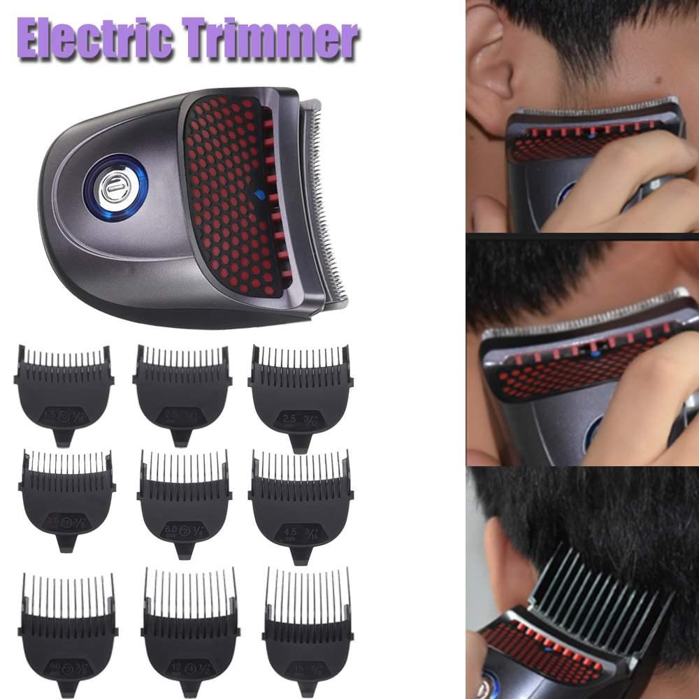 Avec 9 peigne Rechargeable sans fil électrique coupe cheveux tondeuse raccourci homme Pro auto-coupe de cheveux Kit barbe rasoir tondeuses à cheveux