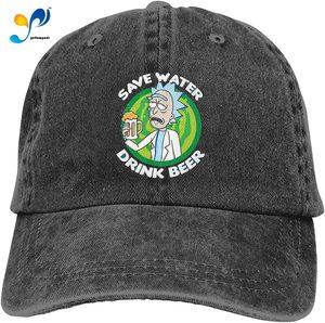 Save Water Drink Beer Hat Vintage Denim Baseball Caps Cotton Dad Hat Adjustable Sandwich Hat