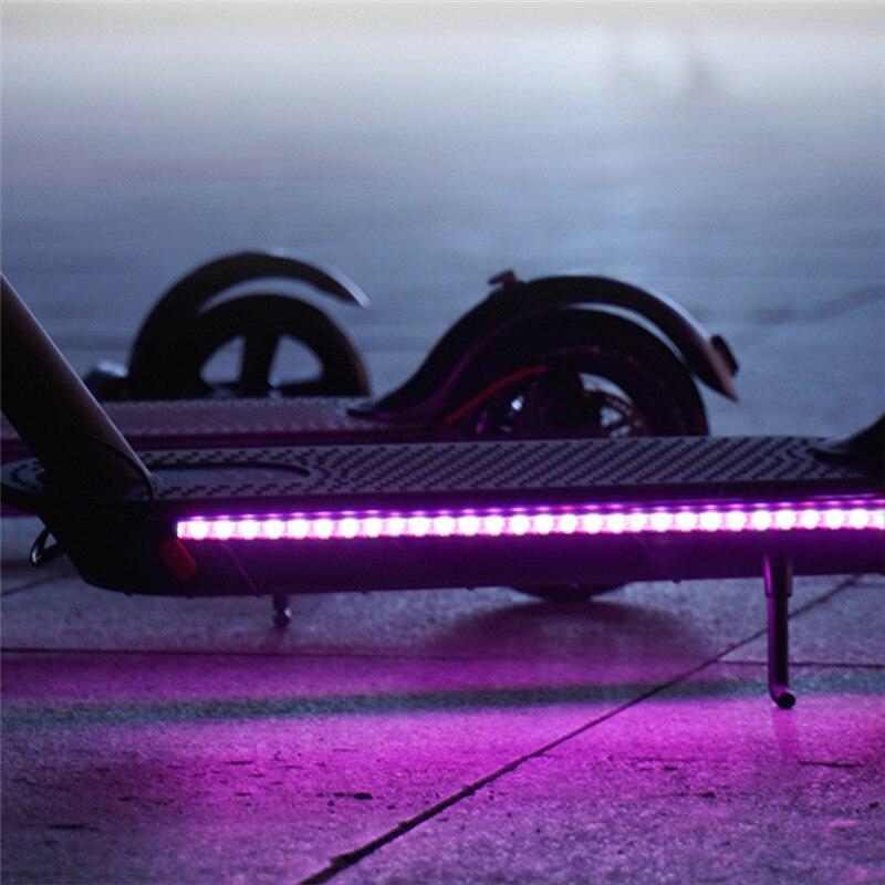 20pcs LED Strip Flashlight Bar Lamp For Xiaomi M365 Electric Scooter Skateboard Night Light New Arrival