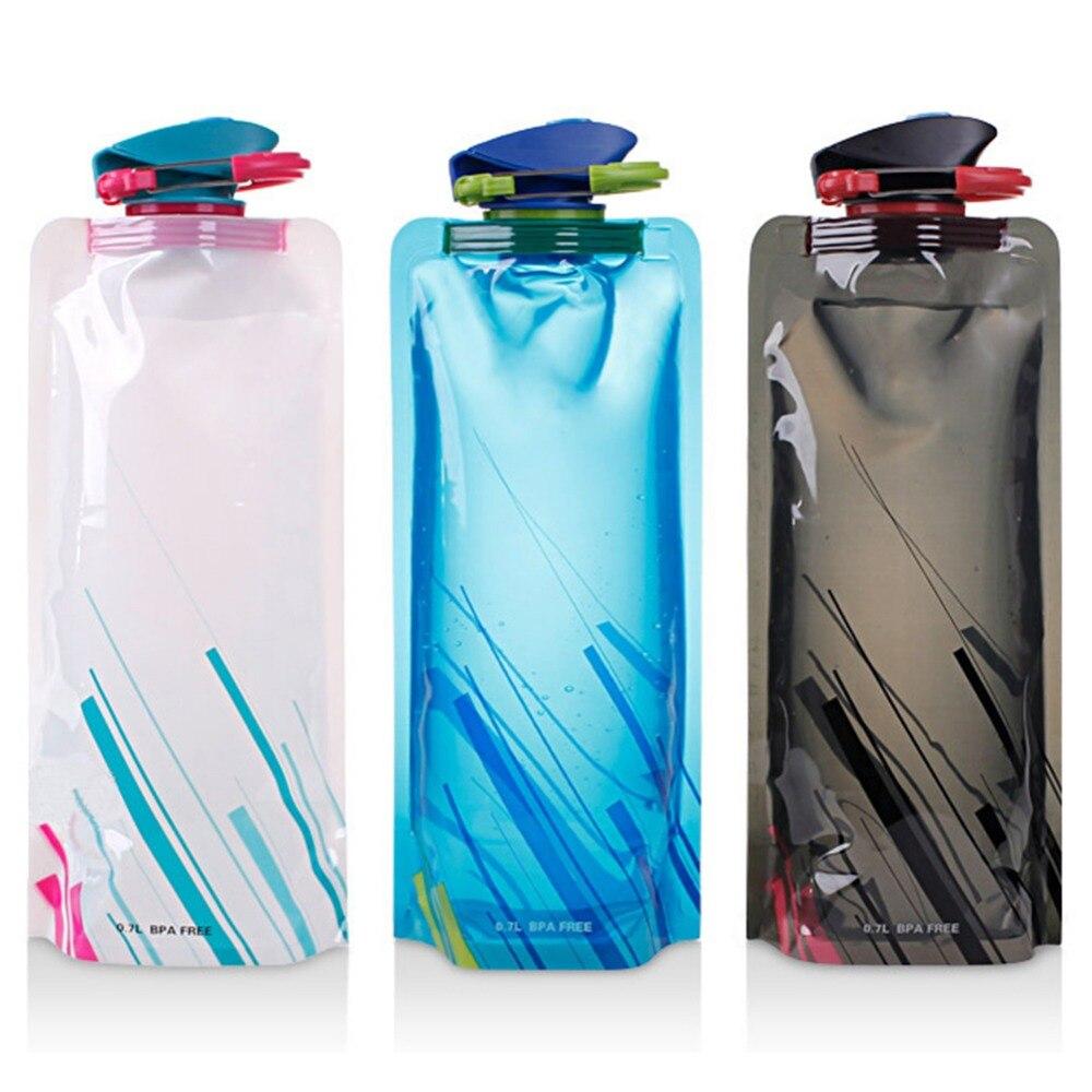 Многоразовые 700 мл спортивные путешествия портативный складной напиток бутылка воды чайник бутылка для воды для спорта на открытом воздухе BPA бесплатно