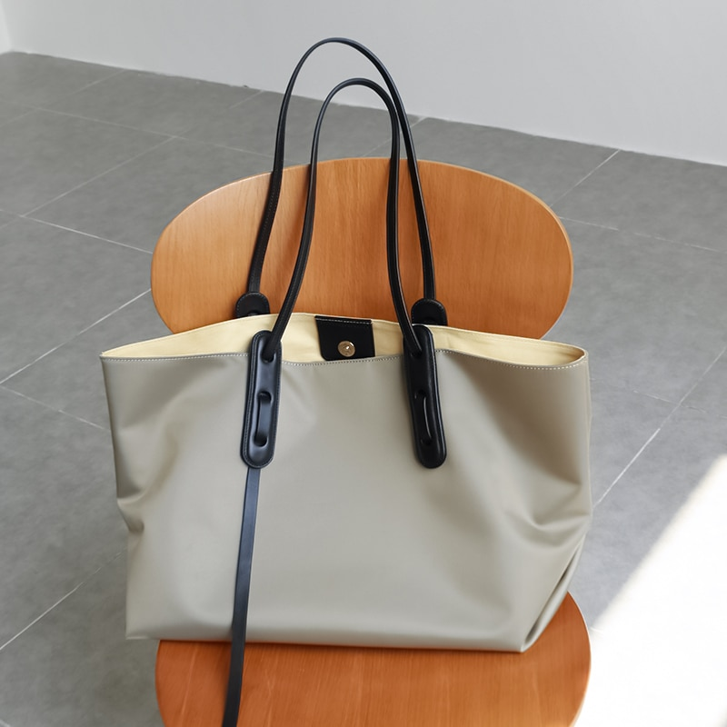 2 قطعة مجموعة المرأة حقيبة كتف الإناث مستحضرات التجميل حقيبة الركاب النايلون أكسفورد سعة كبيرة حقيبة يد كاجوال الصيف السفر حقيبة 2021 جديد