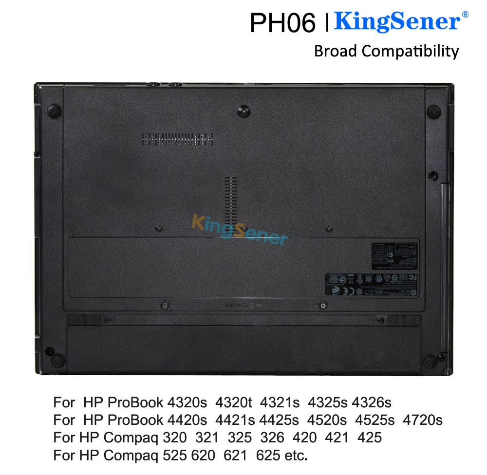 Купить с кэшбэком KingSener PH06 Battery For HP ProBook 4325s 4320s 4321s 420 425 4520s 4326s 4420s 4421s 4425s 4525S HSTNN-LB1A/CB1A 593572-001