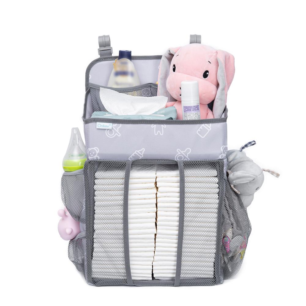Orzbow Baby Bed Crib Organizer Hanging Bags For Newborn Baby Bedding Set organizer Diaper Storage Bag Kids bed linen enlarge