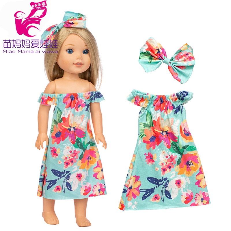 14.5 polegada wellie wishers boneca arco vestido camille ashlyn kendall emerson roupas 38cm 40cm nancy boneca roupas menina presente