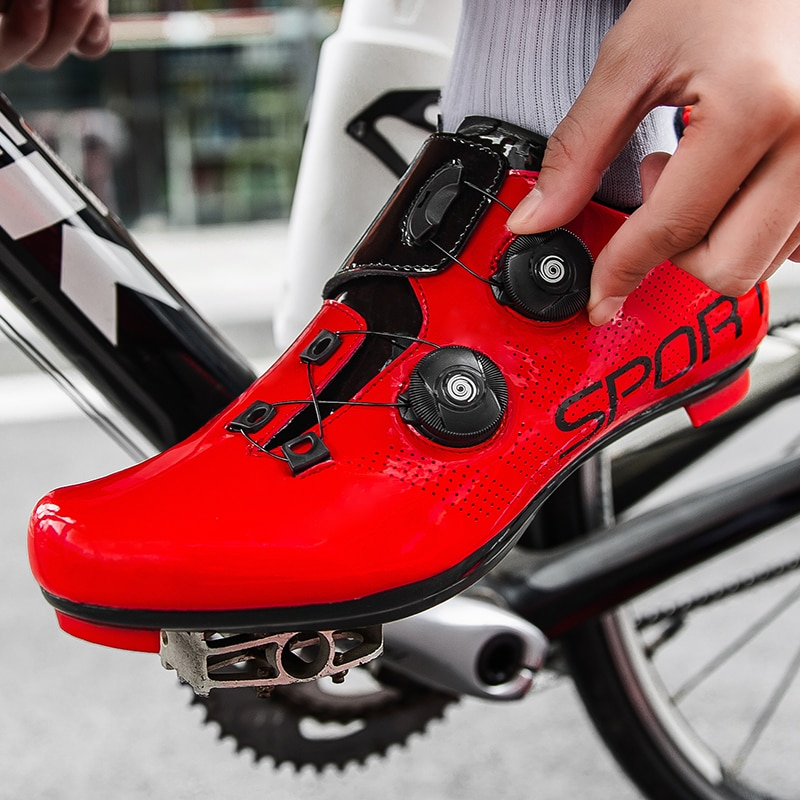 Men Self Lock Road Cycling Training Shoes Breathable BOA Bike Sneakers Professional SPD Bicycle Riding Racing Shoes 38-47