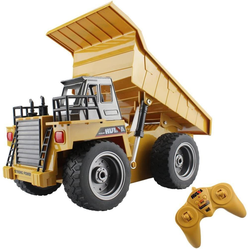 Huina 1540 1/18 RC Dump Truck 2.4G 6CH Remote Control Excavator Toys Alloy RC Model Toy Engineering Vehicle Toy for Kids Cars enlarge