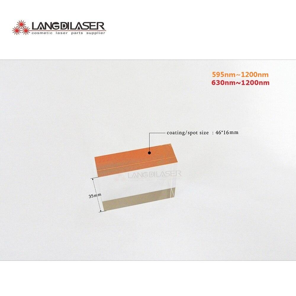 size : 46*16*35 / spot size : 46*16mm / IPL optic filter , wavelength : 595nm&630nm~1200nm , sapphire safir ipl kristal