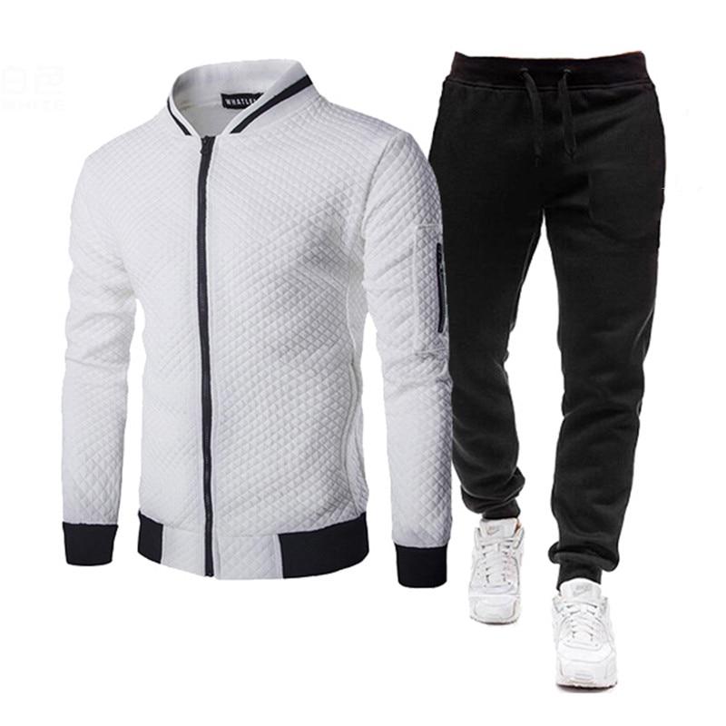 2021 мужская тренировочная одежда, 2 шт, Мужская одежда для осени, спортивная одежда, повседневный костюм, свитшот, спортивные наборы