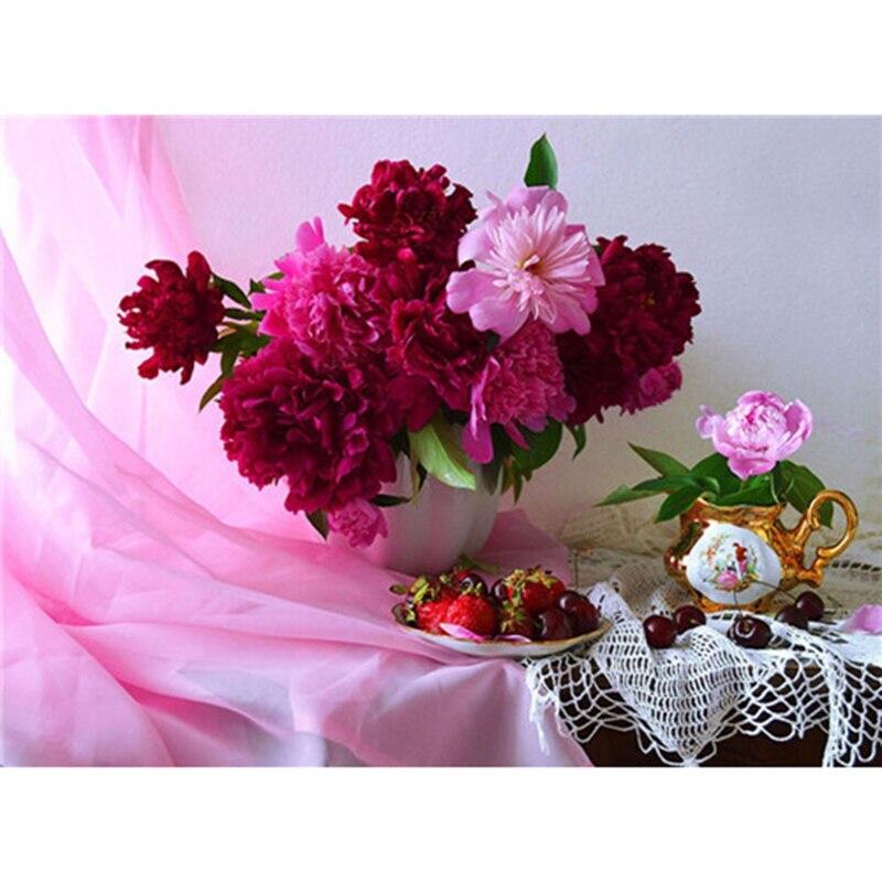 Tulipán diamante pintura flor púrpura romántico diamante bordado completo de diamante bordado diamantes de imitación DIY mosaico decoración del hogar