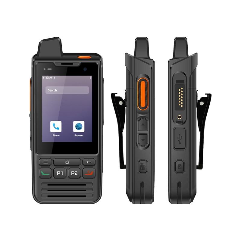 F60 4G Zello PTT Walkie Talkie teléfono IP68 Android 9,0 batería 5300mAh con pantalla táctil FM Radio GPS SOS Wifi 1GB de RAM 8GB ROM