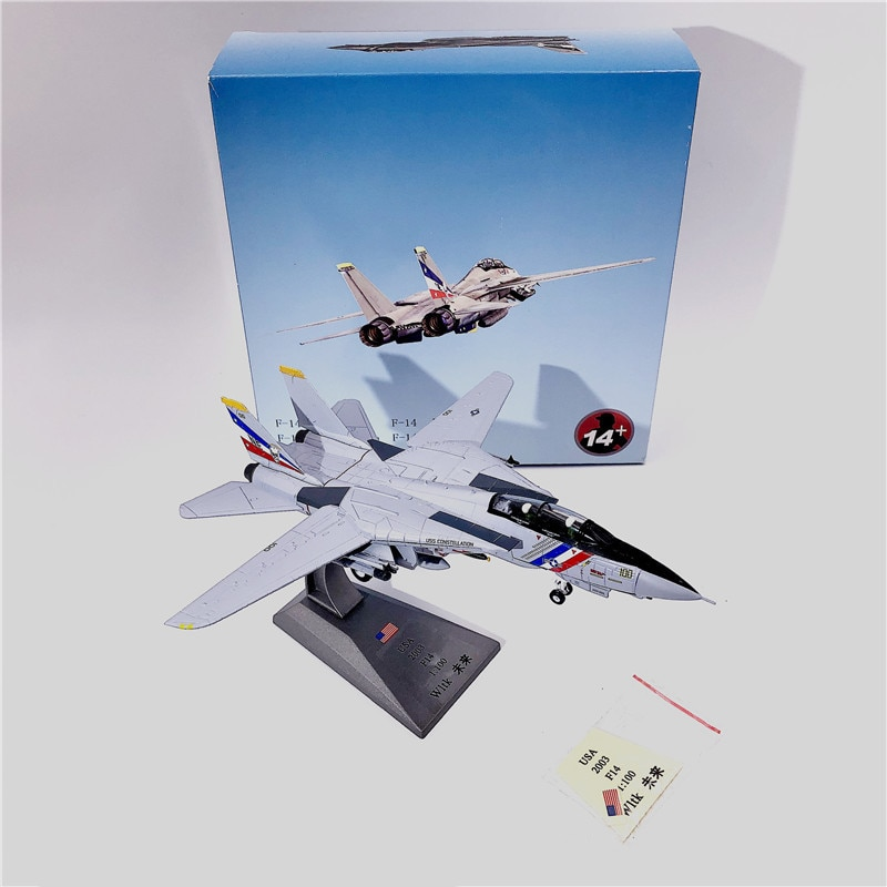 купить 1:100 1/100 Scale US F-14 Tomcat VF-2 Fighter Diecast Metal Airplane Plane Aircraft Model Toy в интернет-магазине