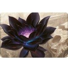Tapis de jeu magique Lotus noir tapis de souris en caoutchouc de grande taille tapis de jeu le rassemblement pour tapis de table de jeu de société MGT