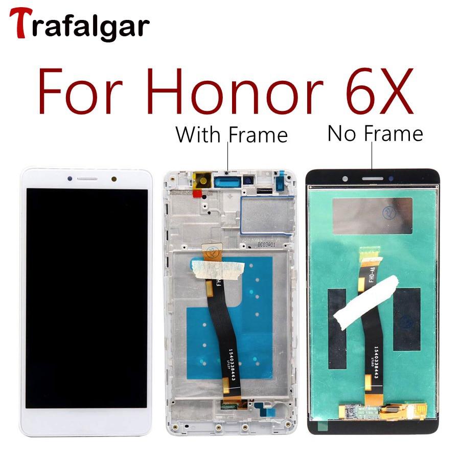 Para Huawei Honor 6X LCD GR5 2017 pantalla montaje de pantalla táctil BLN L24 AL10 L21 L22 para Huawei Honor 6X LCD con marco