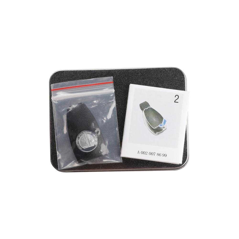 Reyann Metal 3D Apple Tree Badge Key Cover A0008900023 Compatible For Mercedes Benz Key Cover W204 W205 W207 W218 W212 W221 W222