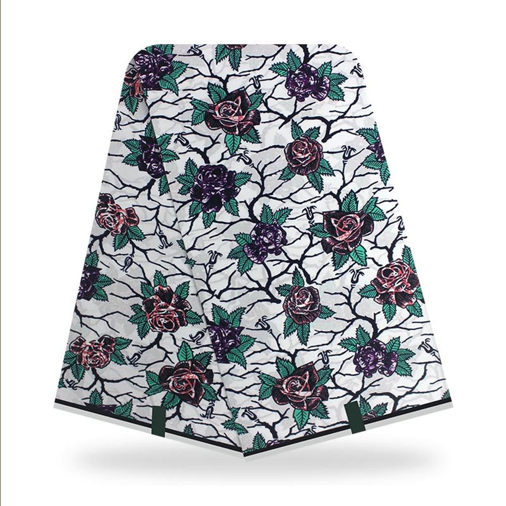 Tecido de Cera Material para o Vestido Melhor Qualidade Nova Africano Real Batik Nigeriano Angola Ancara Pagne Material Algodão Flor Casamento