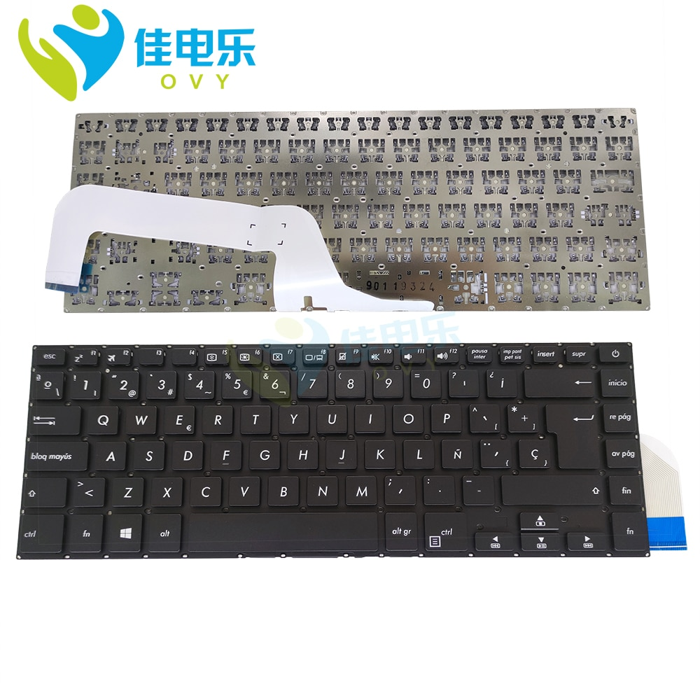 OVY SP Replacement Keyboards for ASUS vivobook 15 X505 X505BA RB94 X505BP X505ZA ES Spanish black notebook keyboard Hot sale
