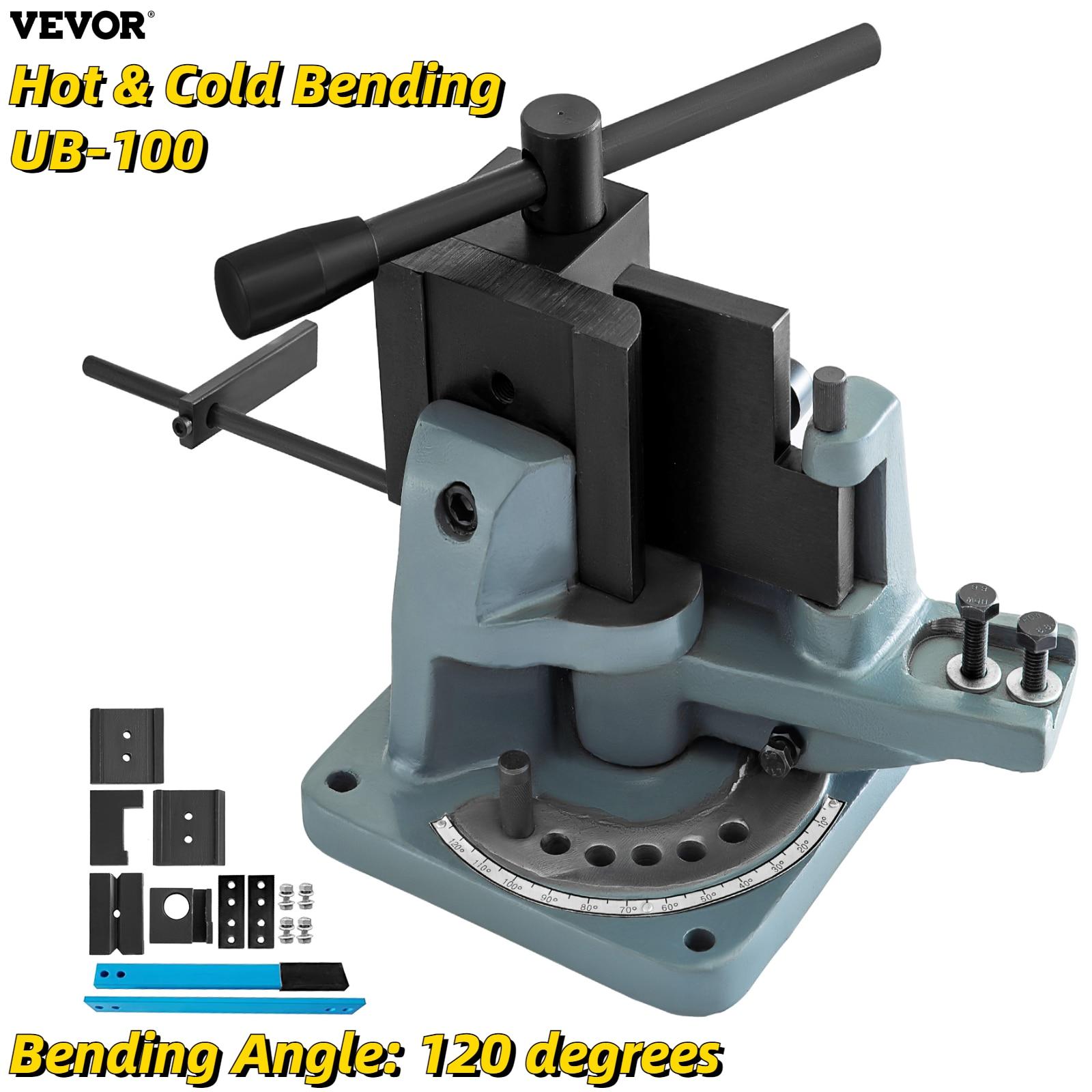 VEVOR دليل العالمي بندر UB-100 انفصال رافعة الساخن Cold شقة زاوية مستديرة الصلب الانحناء 120 درجة التعميم الانحناء أداة