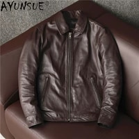 ayunsue 100 real genuine leather jacket men high quality cowhide coat plus size mens jackets 5xl spring fall 2021 hommes veste