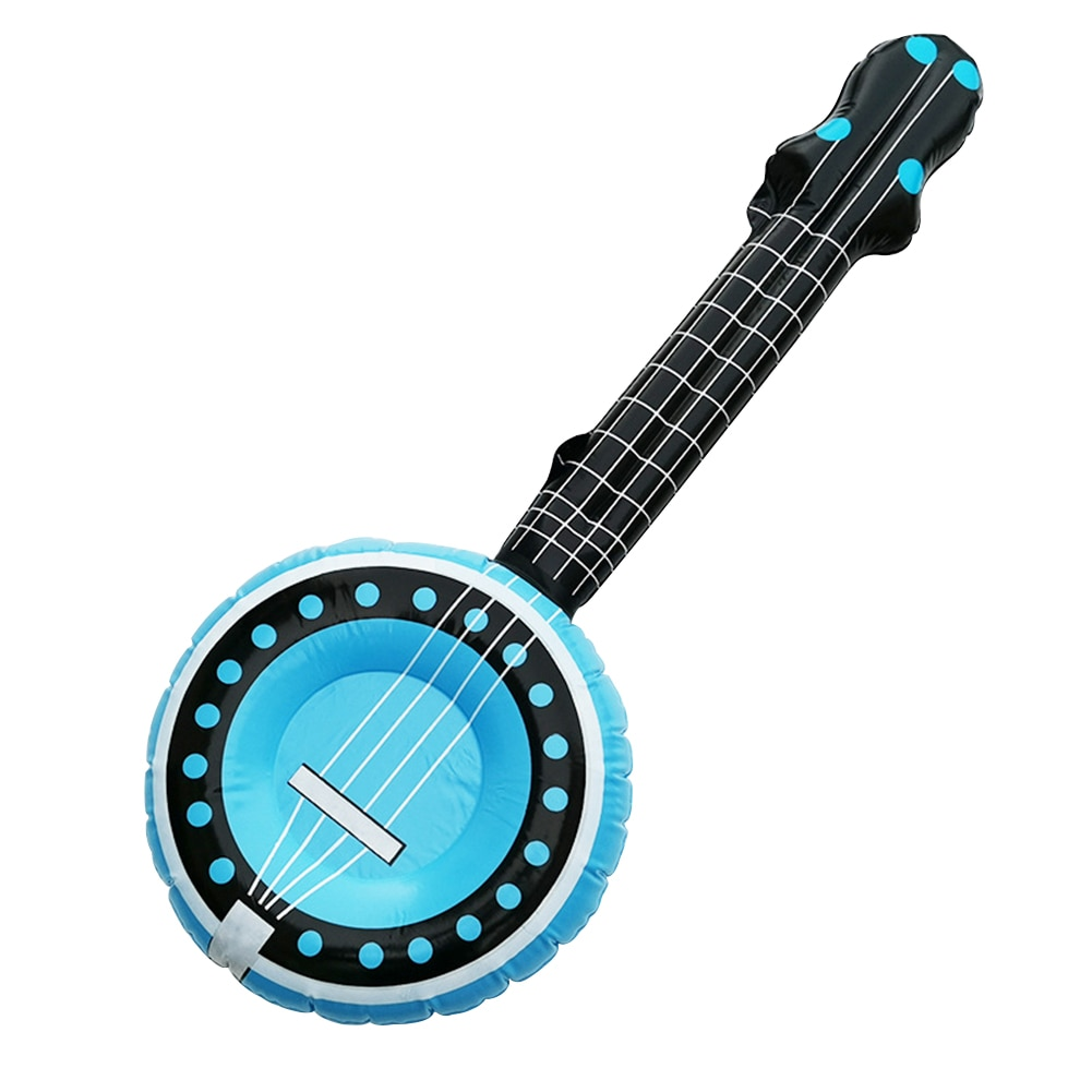 Inflatable Guitar Shape Air Balloons Toy Musical Instruments PVC Stage Prop Children Show Party Birthday Wedding Holiday Decor