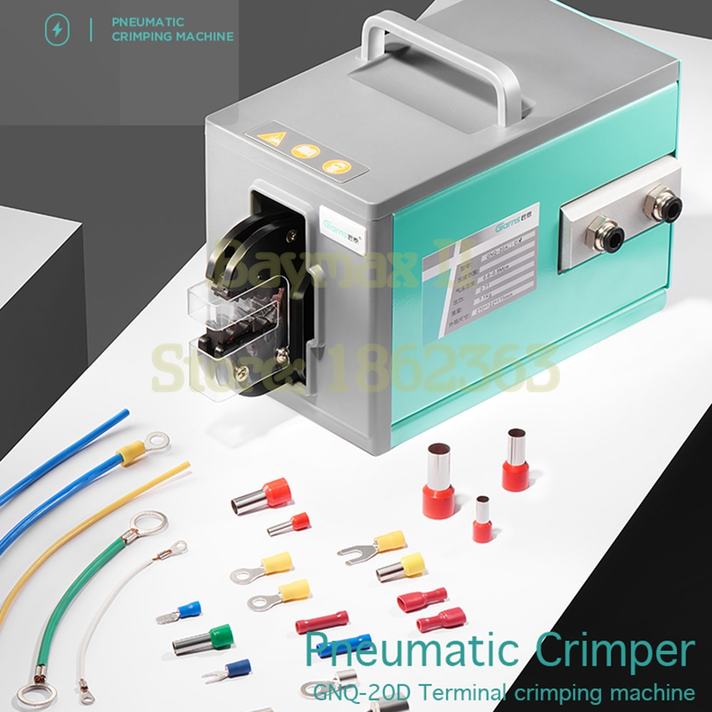 GNQ-20D Pneumatic Crimping Tool Crimp Machine for Kinds Terminal with 4 Die Sets Option up to 16mm²